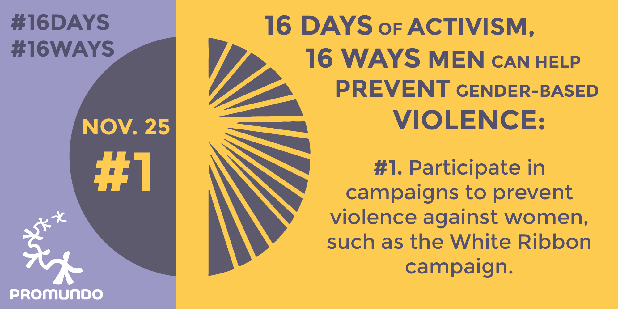 16 Days of Activism, 16 Ways Men and Boys Can Prevent ...