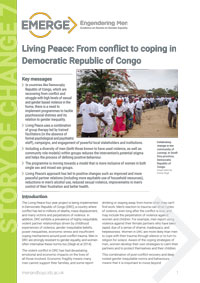 Living Peace EMERGE Story of Change publication cover