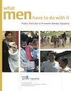 What men have to do with it: Public Policies to Promote Gender Equality