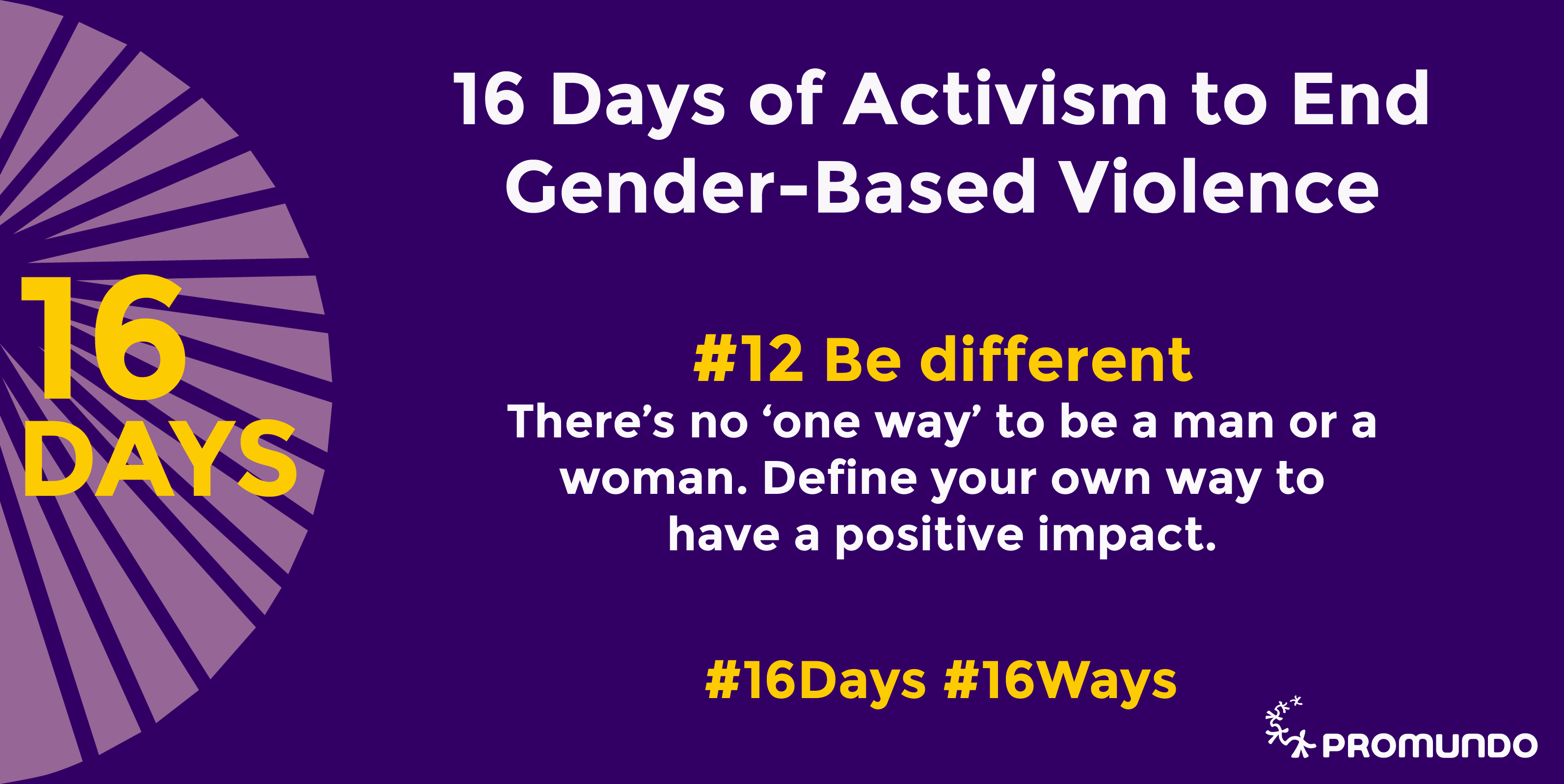 16 Days of Activism, 16 Ways to Prevent GBV