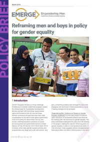 EMERGE policy brief publication cover