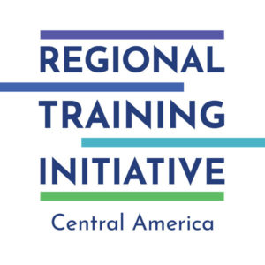 """Regional Training Initiative: Central America"" – English logo"
